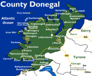 Donegal Map Of Ireland.Mcgeady Clan Welcome Home